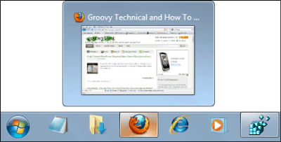 Groovy Trick For Resizing The Taskbar Thumbnails In Windows 7