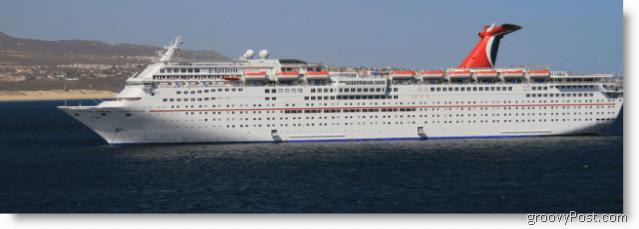 Some big cruise ship in Cabo San Lucas Mexico