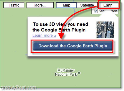 install google earth view in google maps