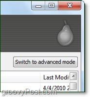 switch recuva to advanced mode