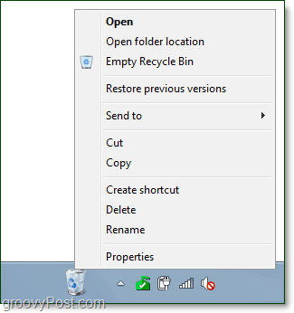 a fully functional recycle bin on the taskbar in windows 7
