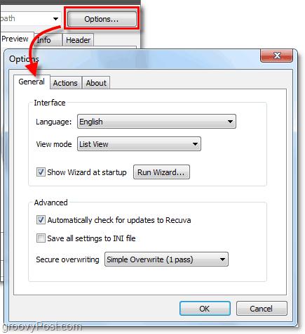 adjust additional recuva options