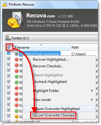 overwrite mutliple deleted files usin recuva