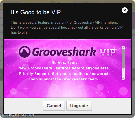 benefits of Grooveshark VIP account