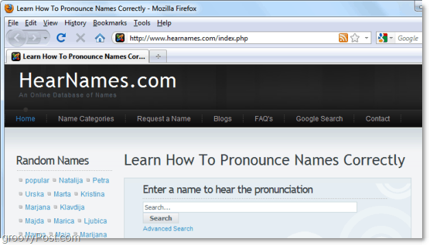 HearNames lets you pronounce words the right way
