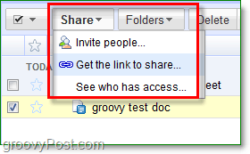 The google docs share and invite menu allows you several share options