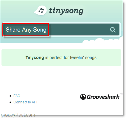 share any song using streaming music from tinysong