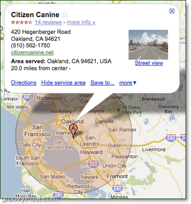 how to add your business to google maps service areas