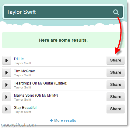 taylor swift tinysong sharing results