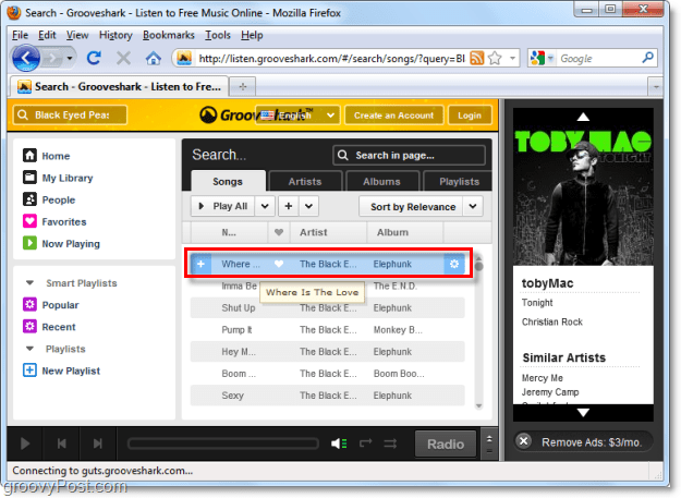 Grooveshark plays any song you want