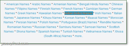 a list of indian names to pronounce