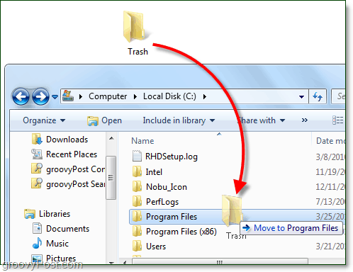 how to move a folder in windows 7