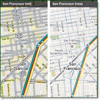 google transit maps comparison