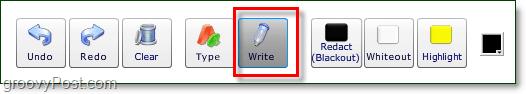 use the write tool to draw