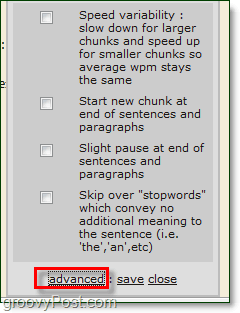 advanced spreeder settings