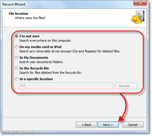 recover deleted files from all locations on your computer