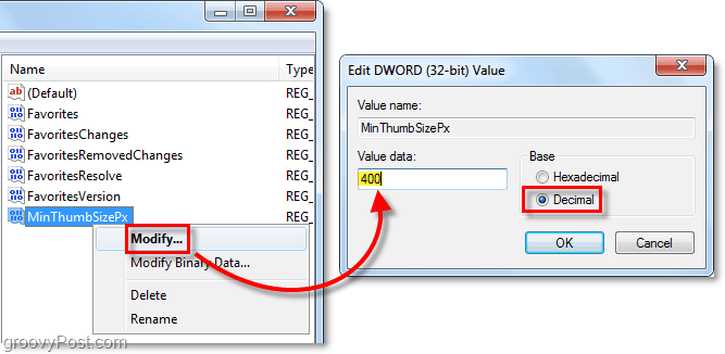 adjust the thumbnail size to your desired pixels in windows 7
