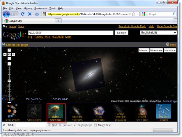 google sky space galleries