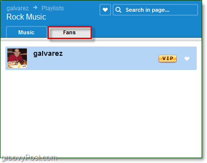 see what fans a playlist has on Grooveshark