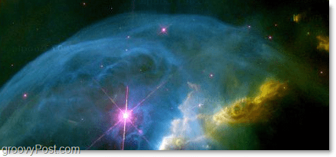 amazing nebula seen through Google Sky