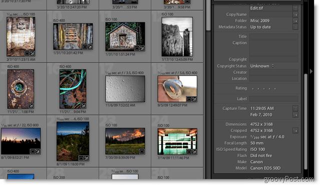 Adobe Lightroom 2 Metadata Screenshot