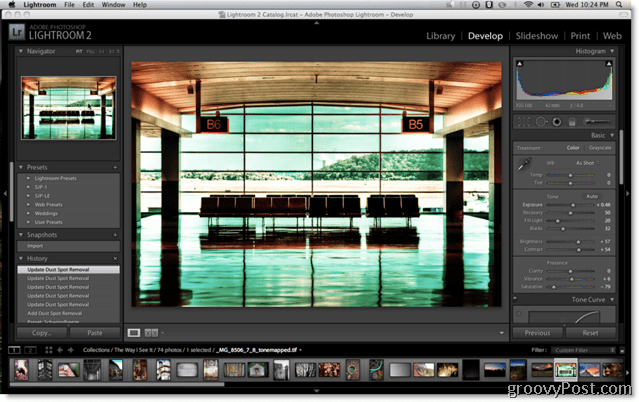 Adobe Lightroom 2 Presets Screen