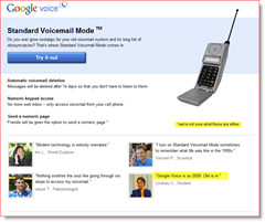 Google Voice April Fools 2010