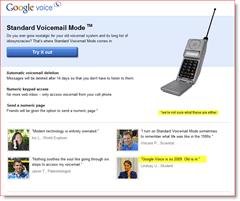 Google Voice April Fools 2010