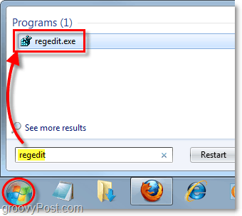 how to start registry editor in windows 7