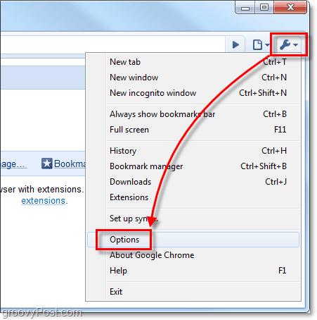 open chrome tools menu
