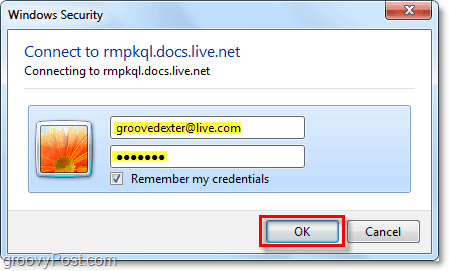 re enter your windows live account credentials