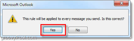 apply rule to all messages in Outlook 2010