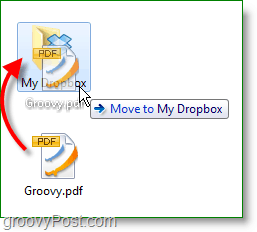 Dropbox screenshot - drag and drop files to back them up online