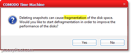 comodo time machine can cause disk fragmentation