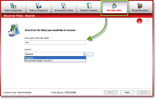 recover individual files from a system image with comodo time machine