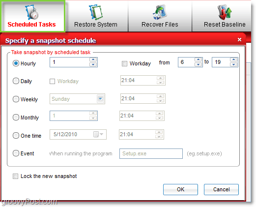 schedule system images and snapshots with comodo time machine