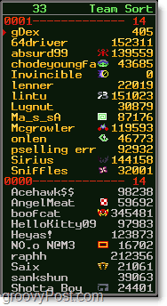 team list for subspace continuum