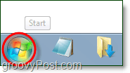 click the windows 7 start menu