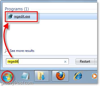 start up regedit in Windows 7