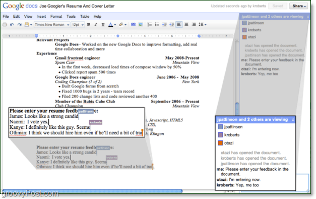 a whole new version of google docs with improved features