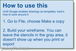 how to make wireframes in google docs