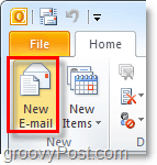 Compose a new email message in Outlook 2010
