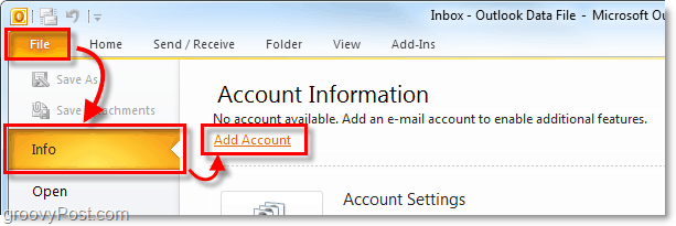 add gmail to outlook 2010