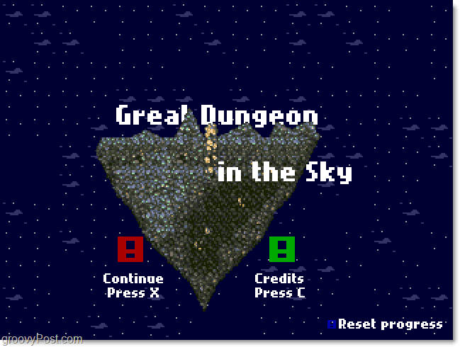 Great Dungeon In The Sky Main Menu