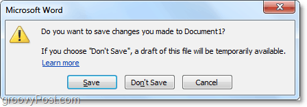 if you dont save changes an automatic draft will be created