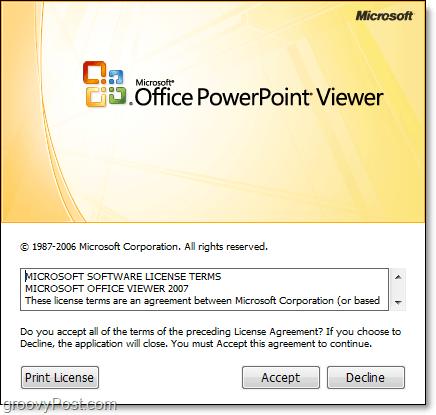 microsoft powerpoint viewer installation