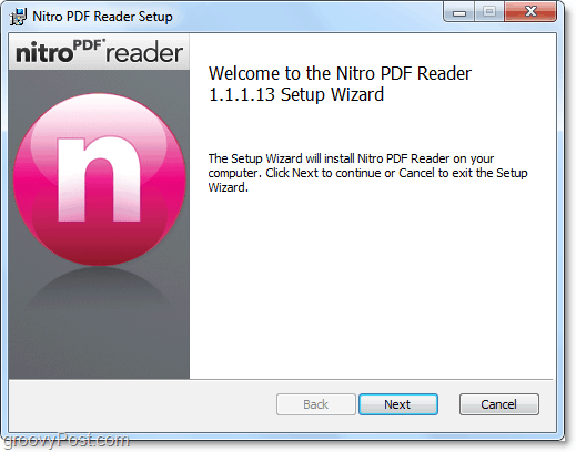 nitro pdf reader is easy to install