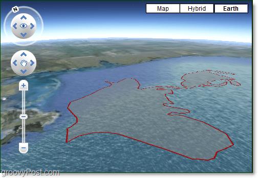 gulf oil spill in google earth