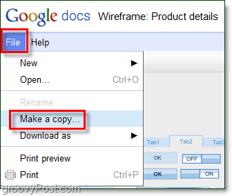 use copy to
