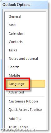 adjust office 200 language options